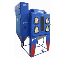 Multiload shot blasting cabinet